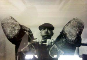 "Fig. 4: Avgust Černigoj nella sua fase ""jeans"" a Trieste, 1928 ca."