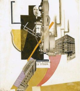 Fig. 5: Avgust Černigoj, Come attraverso la strada, 1925, collage