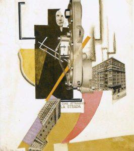 Fig. 5: Avgust Černigoj, Come attraverso la strada, 1925, collage
