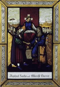Abb. 12: Joseph Sauterleute, Raffael und Dürer vor dem Throne der Kunst