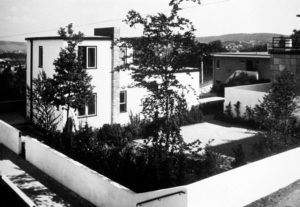 Fig. 17: Max Taut, Casa n. 22, Weissenhof, Stoccarda, 1927, Rathenaustraße 11, retro